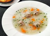 Asiatische Reis Suppe