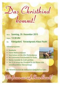 Das Chriskind kommt in die Tierarztpraxis Klaus Fischl - 20. Dezember 2015 in Königsdorf