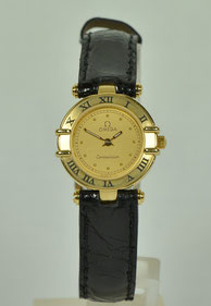 Damenarmbanduhr Omega Constellation 18ct Gold