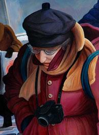 """Lukas Johannes Aigner, """"Nach Plan verlaufen """" Acryl auf MDF, 140x190, 2009, Detail"""