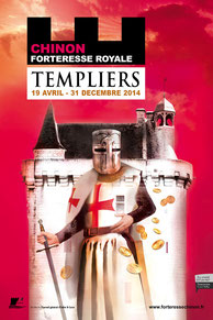 Exposition : TEMPLIERS - Forteresse Royale de Chinon. Temple de Paris