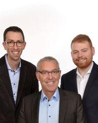 Die Spitzenkandidaten der SPD Riegelsberg v.l.n.r.: Frank Schmidt, Bürgermeister Klaus Häusle und Lukas Huwig