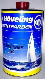 Höveling DD Verdünner 990 - Spritzverdünnung für Bergotec Kunststoff-Fenster-Lack - zur Reinigung für Pinsel und Werkzeug