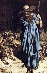 wizard and dwarf by rackham
