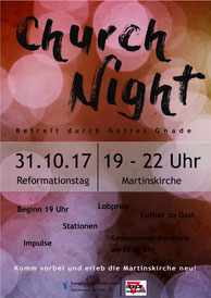 Churchnight-Flyer (vergrößerbar)