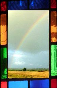 vitrail montage arc en ciel Chalets Toulouse