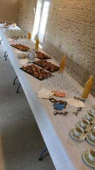 Petits déjeuners au pressoir Café accueil pour une association