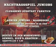 Am 12. Oktober gibt es das Nachtragspiel der Juniors gegen Mannsdorf