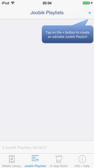 Joobik Player iPhone create custom Playlist
