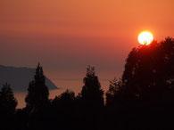 杉津サービスエリアの夕陽