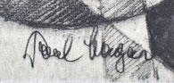 Paul Magar Bonner Münster Lithographie Signatur