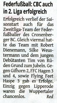 Bericht der Westdeutschen Zeitung vom 24.02.2017