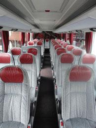 Innenansicht Reisebus Setra S411 HD der Firma Resch