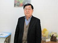 有限会社幽玄洞5代目代表取締役社長・渡辺和敏さん。一関観光協会東山の会長も担っています。