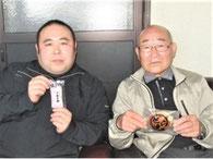 株式会社 菅原食品販売 現代表 菅原純一さん 左 会長 菅原勝郎さん 右
