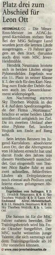 Wilhelmshavener Zeitung 05.09.2019