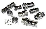 Kompaut, innesti rapidi in acciaio inox AISI 316 anche a doppia tenuta.