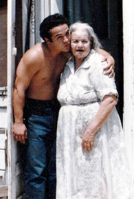 George Yepes, 16 years old, visiting Josefa Villafana Rico, Grandma, in Dos Palos, California  USA
