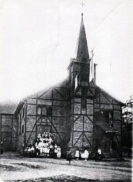 dudweiler, herrensohr, kaltnaggisch, kirche, notkirche, katholisch, 1901