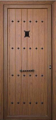 Puerta de entrada rustica aluminio Burgos