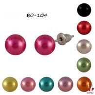 Boucles d'oreilles perles nacrées 10 couleurs 7mm