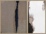 Au travers des failles, collages d'Annie Baratz artiste peintre plasticienne