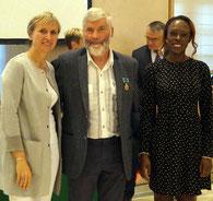 Jean-François CAUCHOIS, Madame la préfète Fabienne BUCCIO et la députée Sylla SYRA