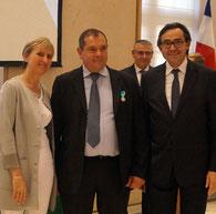 Etienne JUSTIN, Madame la préfète Fabienne BUCCIO et Bertrand BELLANGER