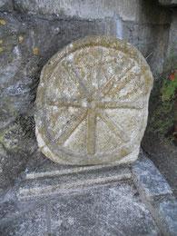 Escultura en piedra, celta, castrexo, disco solar. Monte Santa Trega, A Guarda, Pontevedra, Galicia