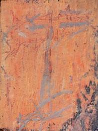 Ikone III , Mischtechnik auf Holz, 19 x 25 cm, 2006