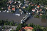 Luftbilder Hochwasser Alsleben
