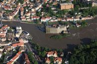 Luftbilder Hochwasser Bernburg