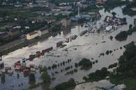 Luftbilder Hochwasser Halle