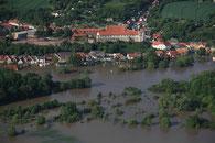 Luftbilder Hochwasser Wettin