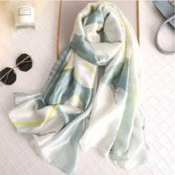 Etole Bijoux des Lys Rose 100% Soie Liseré Or