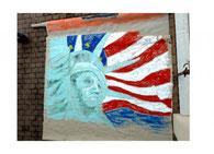 USA-Bühnenbild der MSG-Kunstgruppe