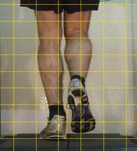 die Reihenfolge bei der Video-Analyse, wir beginnen mit der Aufnahme im alten Schuh