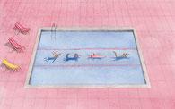 Schwimmbad Illustration Judith Auer