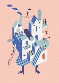 Surreale Illustration komplex Judith Auer