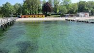 Nicht selten beginnt die Badesaison bereits ab Pfingsten.