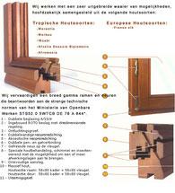 techn fiche houten ramen
