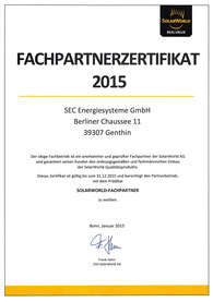 SolarWorld Fachpartner 2016