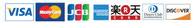 ご利用頂けるクレジットカード: VISA, Master, JCB, AMEX, 楽天,Diners