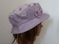 chapeau de pluie charlotte mauve