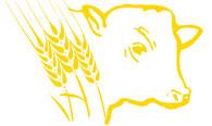 logo agrargesellschaft niederer fläming petkus - kuh mit weizenähren