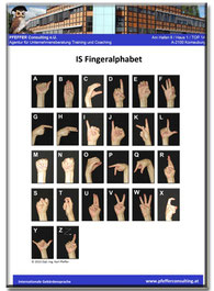 IS Fingeralphabet internationale Gebärdensprache