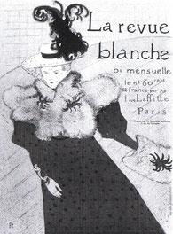La revue blanche (Henri de Toulouse Lautrec).  Plakat von 1895.