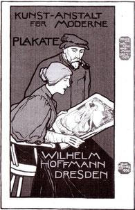 Otto Fischer Kunst - Anstalt für moderne Plakate (Hoffmann) 1896 Plakat.