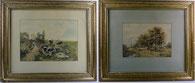 W. Jansen, zwei Aquarelle, original gerahmt, 1897 , € 950,00