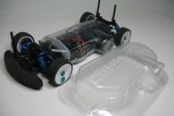 RC Chassis mit einer Regenabdeckung der Firma Modellbau Kroh